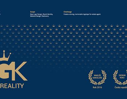 GK Reality logo and website design
