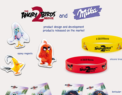 Angry Birds and Milka promotional items