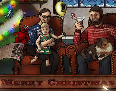 Family Christmas Card (Commission)