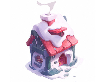 Winter house | Isometric game design