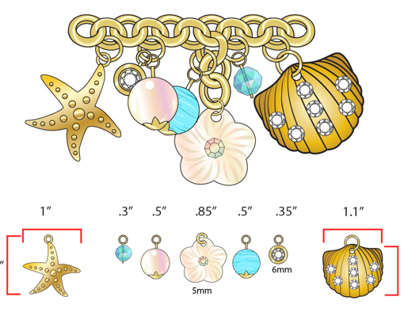 Jewelry and Hardware for Swimwear