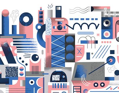 Editorial illustrations for Publicateur