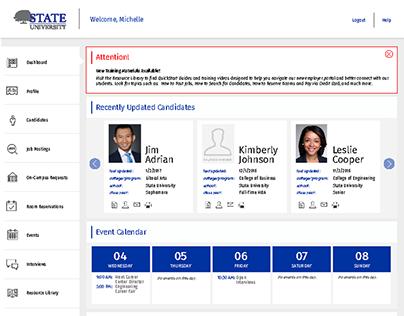 GradLeaders | Employer Interface Wireframe