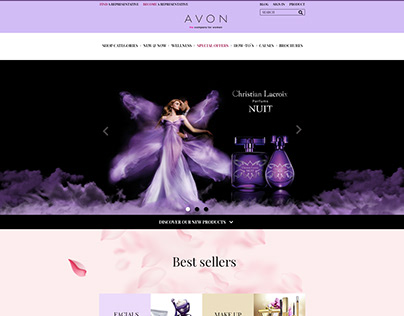 Avon Homepage Redesign
