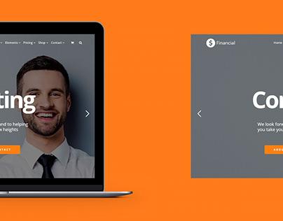 Financial WordPress Theme - Laptop View