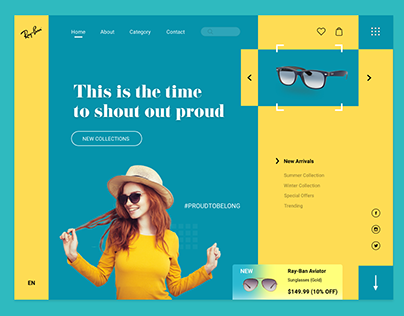 Ray-Ban Website Concept Design