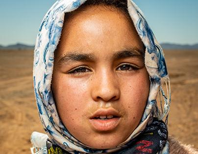 Children from school in Merzouga.