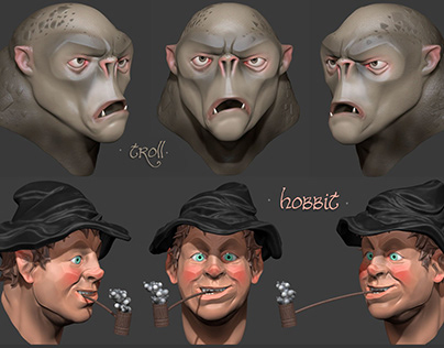 Daily Sculpts Characters / 3d