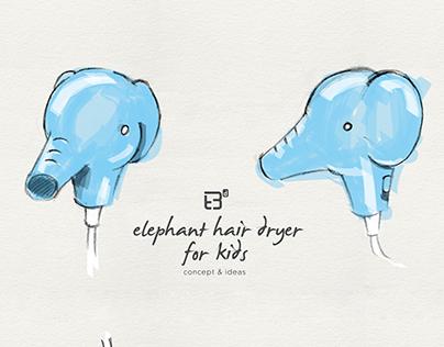 Elephant Hair Dryer for Kids