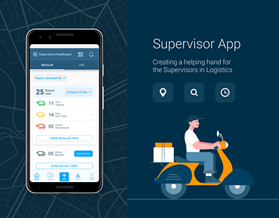 Supervisor App•Keeping track of drivers•UX Case Study