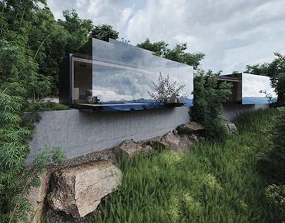 Reflection Deep Sky Villas by Fachwerk Domogatsky