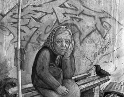 """Book illustrations, 2010 // K.Saja """"Vėjo pamušalas"""""""
