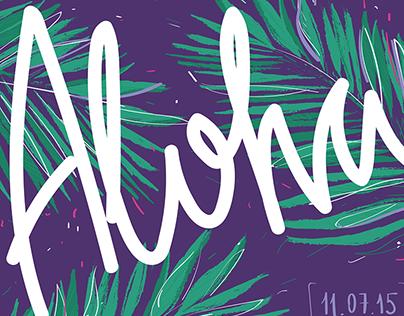 Aloha! Hawaii party - poster