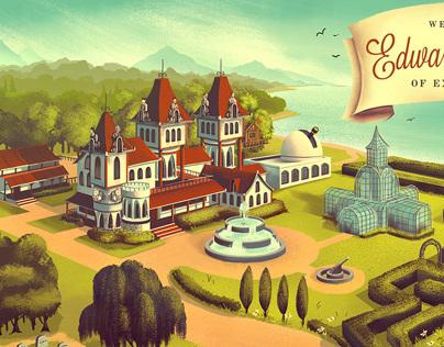 Mowrey Manor Illustration Series