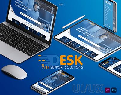 7/24 Desk UI/UX Design