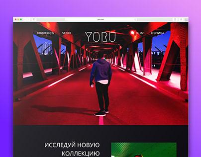Сайт для бренда одежды Yoru