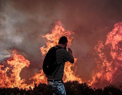 Incendios en los cerros de Bogotá