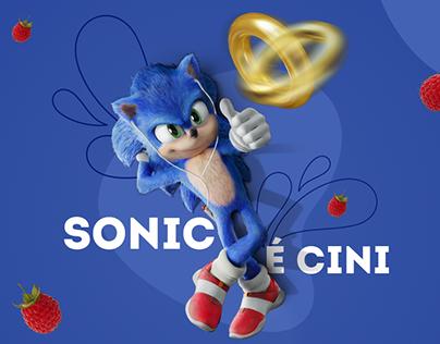 Campanha publicitária - Sonic - o filme e Cini