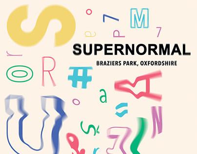 SUPERNORMAL - Music festival poster
