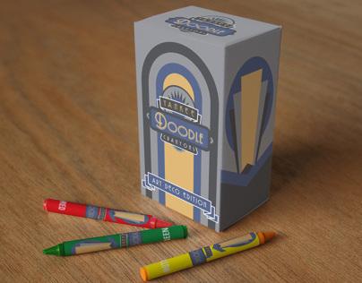 """Yankee Doodle crayon box """"Art Deco"""""""