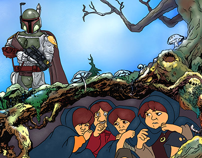 What if the Hobbits were Boba Fett's bounty?