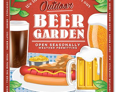 Beer Garden Poster Design