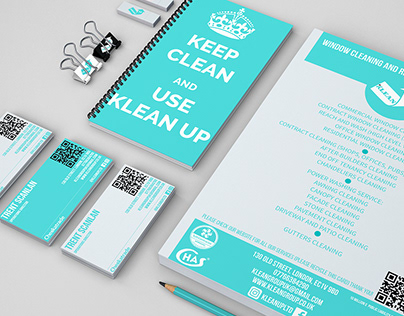 Rebranding for Klean Up LTD - cleaning company. London