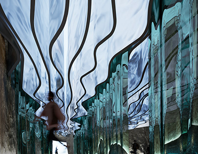 .ART Museum in cave | CGI