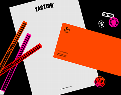 Taction Records Branding