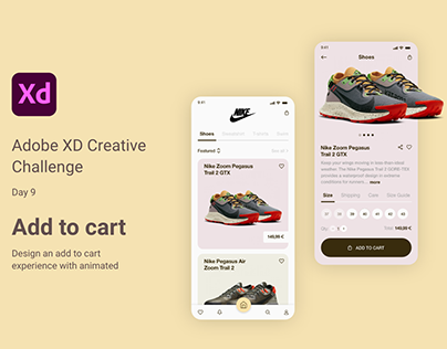 Adobe XD Daily Creative Challenge Add to Cart