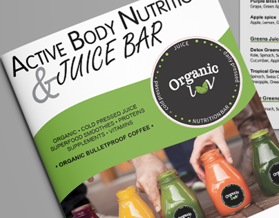 Juice Bar Brochure