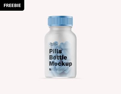 Free Download: Pills Bottle Mockup