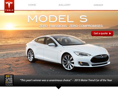 Tesla Motors Redesign Model S Microsite On Behance