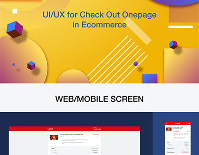 UI/UX Checkout onepage in ecommerce