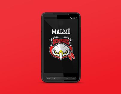 Client Work - App, Malmö Redhawks