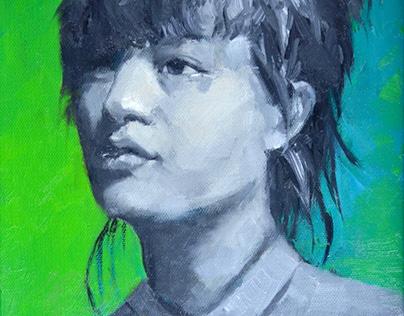 """""""Aya"""" 8""""x10"""" oil on canvas"""