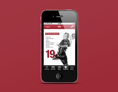 Client Work - App, LUGI Handboll
