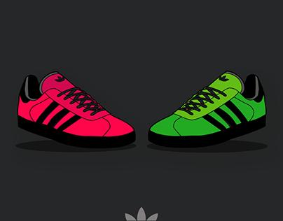 Adidas Gazelle Illustration