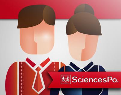 Illustrations for Sciences Po's magazine