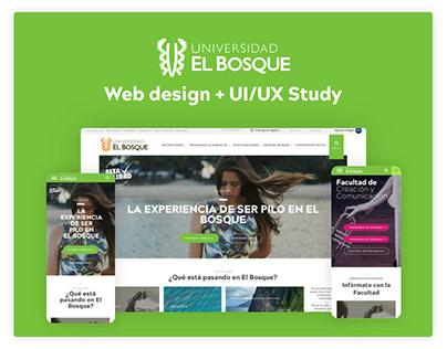 Universidad El Bosque website new design
