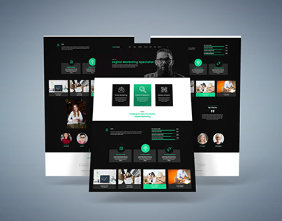 Digital agency UI design