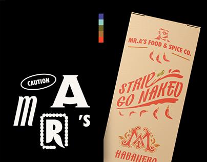 Mr. A's Food & Spice Identity