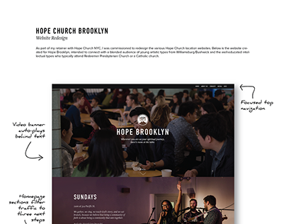 Web Design for Hope Church, Brooklyn