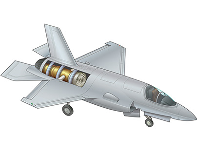 Fighter Jet cutaway