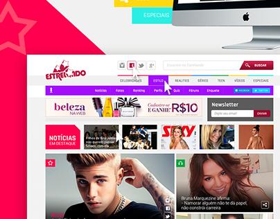 Site - Novo Layout do Portal Estrelando