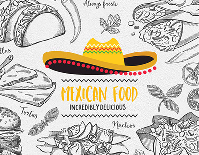 Mexican Food Illustrations by Barcelona Design Shop