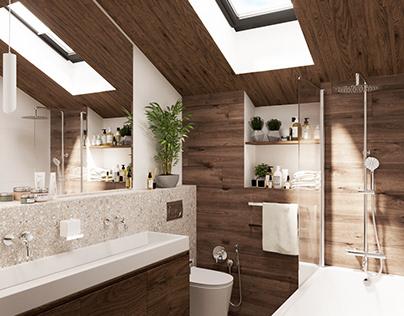 Bathroom in a 1 family house
