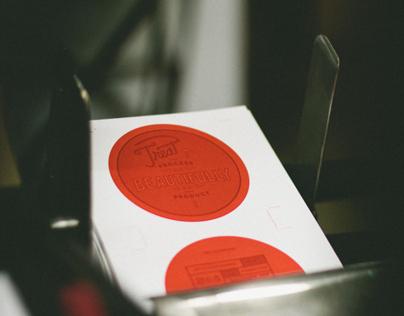 Treat The Process Beautifully  - Letterpress Coaster