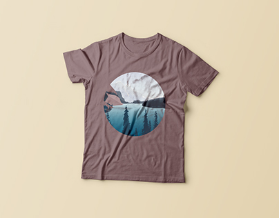T-shirt with a print of nature