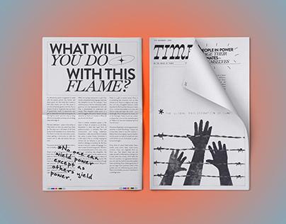 Times Out- A Publication Design